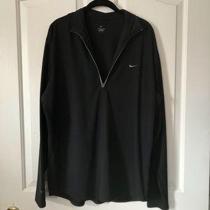 Men's Nike black half zip pullover sz XL